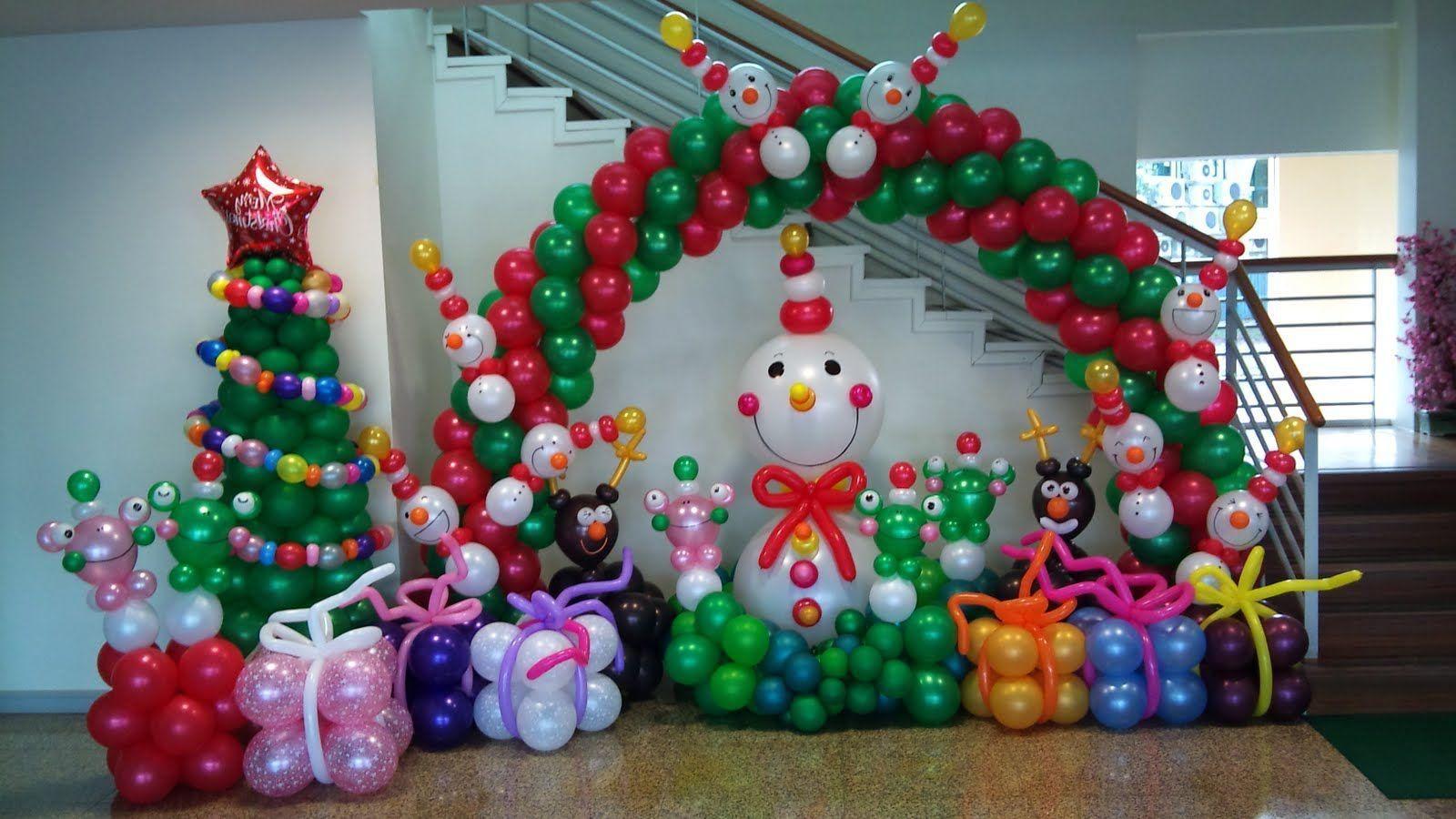 Decoracion Con Globos Para Navidad Creaciones Tete