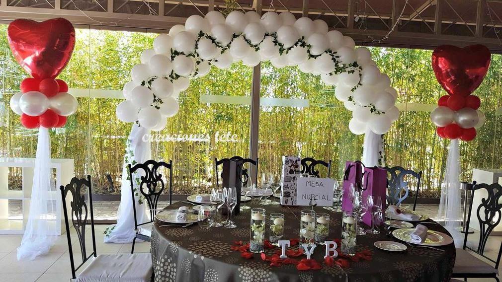 decoracion con globos para bodas | creaciones tete